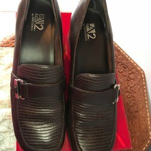 Dark Brown Leather Aerosoles A2 Shoes